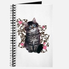 Cute Blue-eyed Tabby Cat Journal