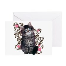 Cute Blue-eyed Tabby Cat Greeting Cards (Pk of 10)