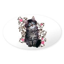 Cute Blue-eyed Tabby Cat Decal