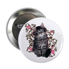 """Cute Blue-eyed Tabby Cat 2.25"""" Button (10 pack)"""