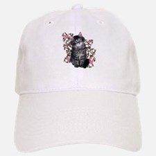 Cute Blue-eyed Tabby Cat Baseball Baseball Cap