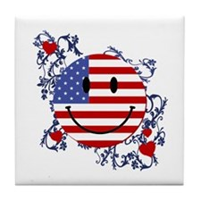 Fourth 4th Of July Tile Coaster