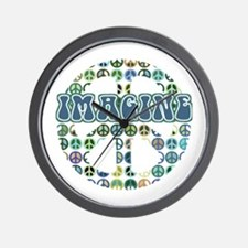 Cool 70s Retro Peace Wall Clock