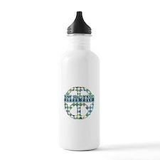 Cool 70s Retro Peace Water Bottle