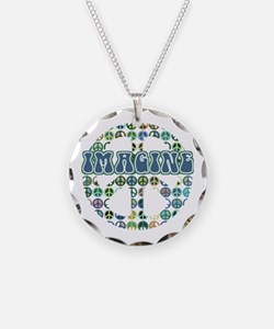Cool 70s Retro Peace Necklace
