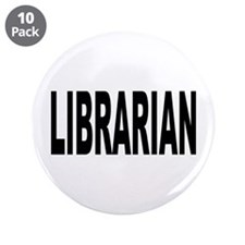 """Librarian 3.5"""" Button (10 pack)"""