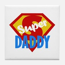 Dad Daddy Fathers Day Tile Coaster