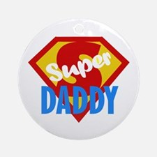Dad Daddy Fathers Day Ornament (Round)
