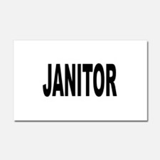 Janitor Car Magnet 20 x 12
