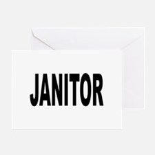 Janitor Greeting Card