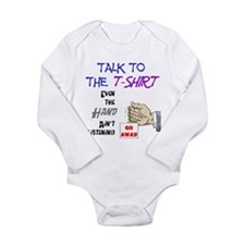 Talk to the Shirt Long Sleeve Infant Bodysuit