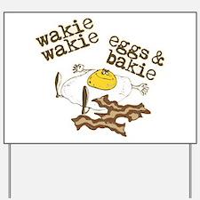 Rise and Shine Breakfast Yard Sign