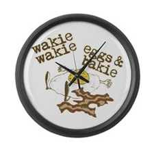 Rise and Shine Breakfast Large Wall Clock