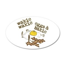 Rise and Shine Breakfast 22x14 Oval Wall Peel