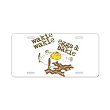 Rise and Shine Breakfast Aluminum License Plate