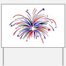 Fireworks Yard Sign