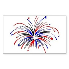 Fireworks Sticker (Rectangular)