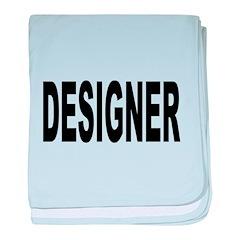 Designer baby blanket