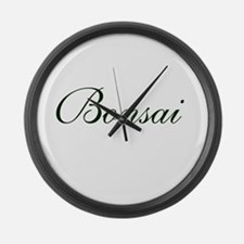 BONSAI (text) Large Wall Clock