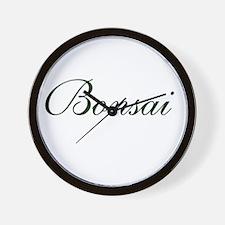 BONSAI (text) Wall Clock