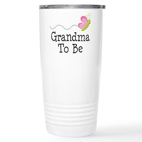 Grandma To Be Stainless Steel Travel Mug