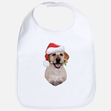 Yellow Lab Santa Bib