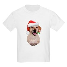 Yellow Lab Santa T-Shirt
