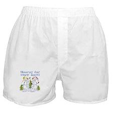 Funny Winter Snow Humor Boxer Shorts