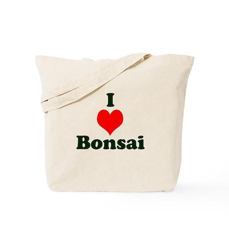 I Love Bonsai (with heart) Tote Bag