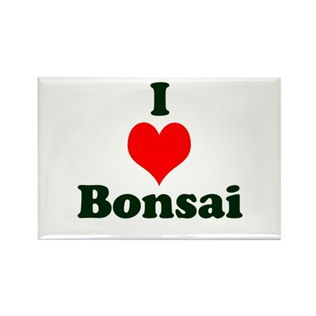 I Love Bonsai (with heart) Rectangle Magnet