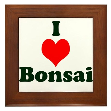I Love Bonsai (with heart) Framed Tile