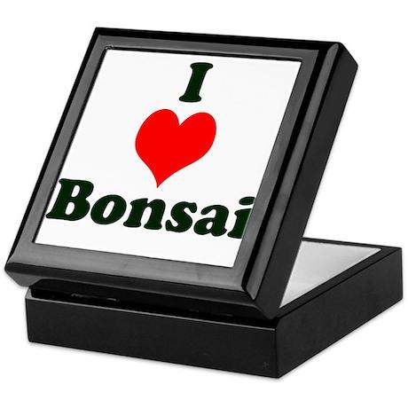 I Love Bonsai (with heart) Keepsake Box