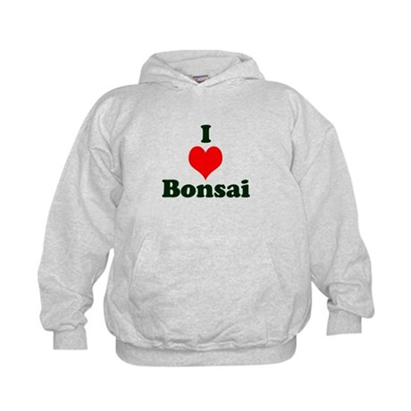 I Love Bonsai (with heart) Kids Hoodie