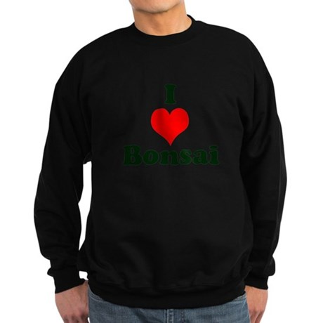 I Love Bonsai (with heart) Sweatshirt (dark)
