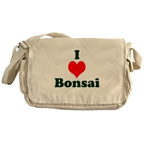 I Love Bonsai (with heart) Messenger Bag