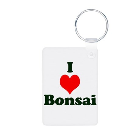 I Love Bonsai (with heart) Aluminum Photo Keychain