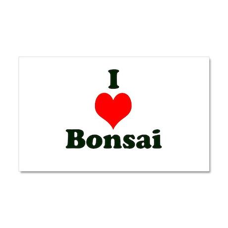 I Love Bonsai (with heart) Car Magnet 20 x 12