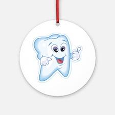 Funny Dentist Dental Humor Ornament (Round)
