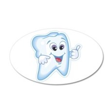 Funny Dentist Dental Humor 22x14 Oval Wall Peel