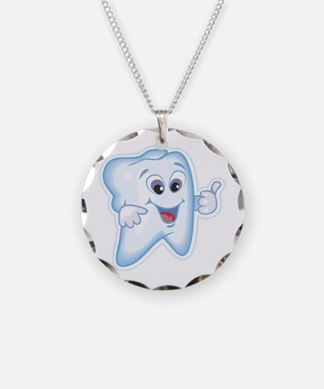 Funny Dentist Dental Humor Necklace Circle Charm