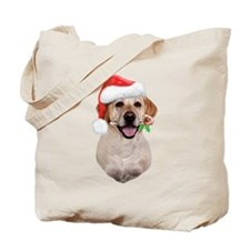 Yellow Lab Santa Tote Bag