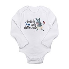 Daddy's Little Democrat Long Sleeve Infant Bodysui