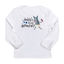Daddy's Little Democrat Long Sleeve Infant T-Shirt
