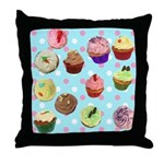 Polka Dot Cupcakes Throw Pillow