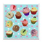 Polka Dot Cupcakes Tile Coaster