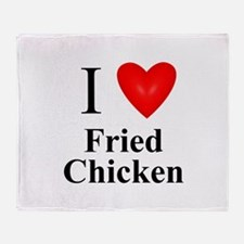 Cool Fried chicken Throw Blanket