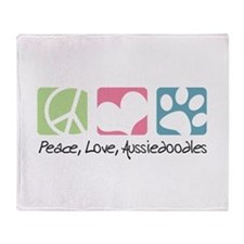 Peace, Love, Aussiedoodles Throw Blanket