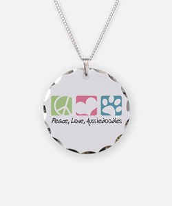 Peace, Love, Aussiedoodles Necklace