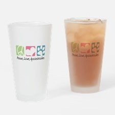 Peace, Love, Aussiedoodles Drinking Glass