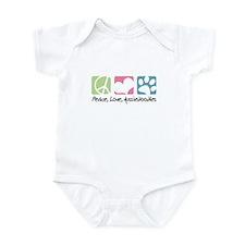 Peace, Love, Aussiedoodles Infant Bodysuit